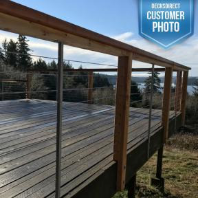 Feeney Cable Railing installed in Wood Deck Railing
