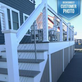 Feeney Cable with Trex Transcend Railing in White