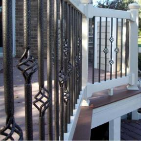 Fortress Vintage Series Round Standard Balusters and Basket Balusters in Antique Bronze.