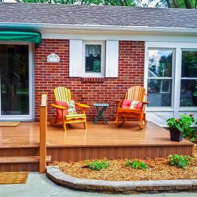 A beautiful look even after the rain, Genovations PVC decking is a water-resistant choice you'll love.