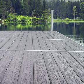 Crafted with zero organic material and completely rot and water-damage resistant, Genovations PVC flooring is an ideal dock material.