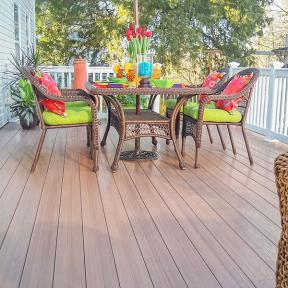 Build your tropical paradise right in the back yard with the low maintenance feel of Genovations PVC decking.
