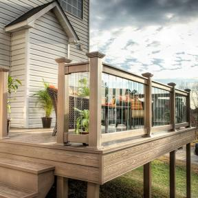 Create a rich, complete look with the glory of Genovations PVC deck and fascia boards fulfilling your space.
