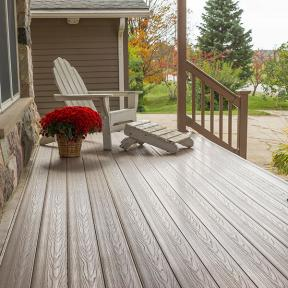 Craft a front-porch you can't wait to get home to with the enduring look of Genovations PVC deck boards lining your space.
