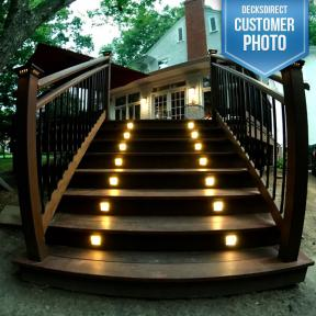 Moab Recessed LED Riser Light by Highpoint Deck Lighting