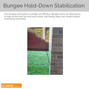 Oasis 2600 - Bungee Hold-down Stabilization