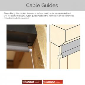 Oasis 2650 and 2800 - Cable Guides