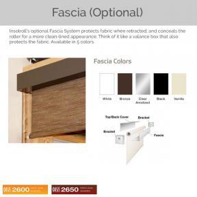 Oasis 2600 and 2650 - Optional Fascia