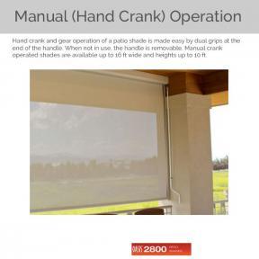 Oasis 2800 - Manual Hand Crank Operation