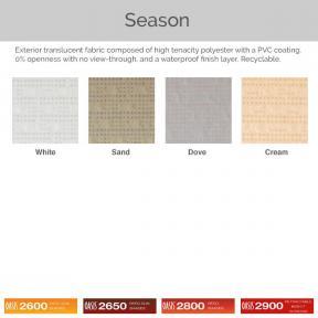 Oasis 2600, 2650, 2800, and 2900 - Season Fabric Colors