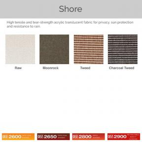 Oasis 2600, 2650, 2800, and 2900 - Shore Fabric Colors