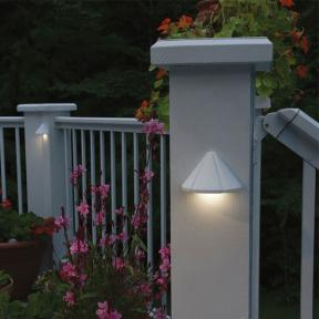 The Mini Deck Light in White by Kichler