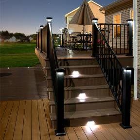 Neptune Downward Low Voltage Lighting & LMT Mercer Solar Stair/Side Lights w/ 2 covers by LMT Mercer Group