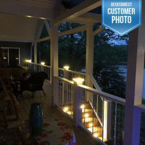 Neptune Low Voltage LED Post Cap Light and Low Voltage LED Flush Deck Light by LMT Mercer