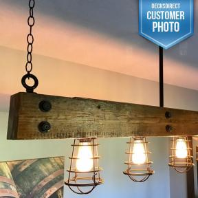 3/4 inch Diameter Timber Bolts by OZCO Ornamental Wood Ties used to make a custom light fixture