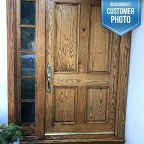 Ultra Premium Red Label Formula by Penofin on a front door