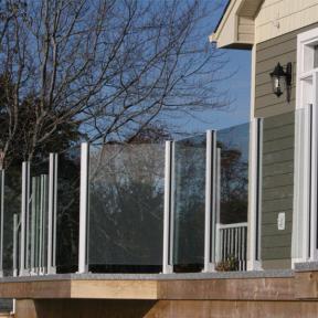 Century Scenic Glass Railing System in White