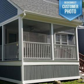 SCREENEZE® Screen Frame on deck porch