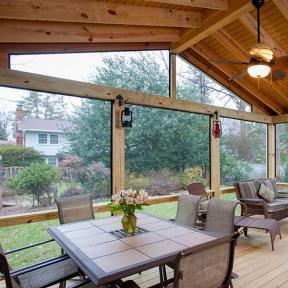 SCREENEZE®  Screen Frame Kit Project featured in a backyard patio area