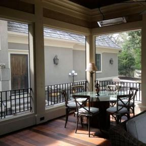 SCREENEZE® Screen Frame Kit Project featured in an outdoor dining area