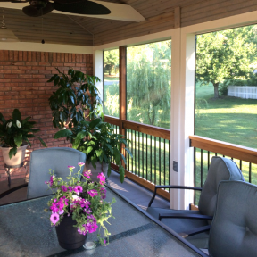 SCREENEZE® Screen Frame Kit Project in outdoor dining area