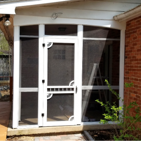 SCREENEZE® Screen Frame Kit Project used on door