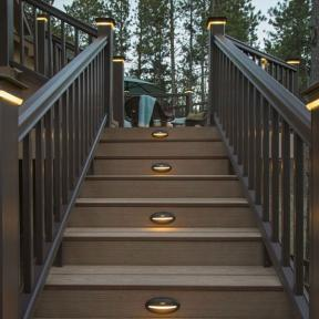 DeckLites LED Riser Lights & DeckLites Post Light Module by TimberTech DeckLites