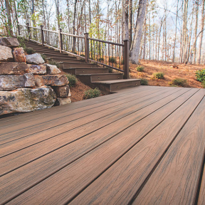 Trex Elevations® Steel Deck Framing with Transcend® decking in Spiced Rum