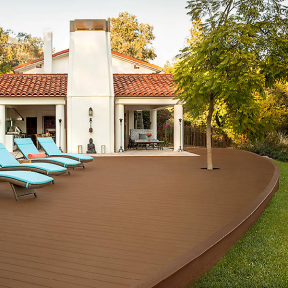 Trex Elevations® Steel Deck Framing with Enhance® decking in Beach Dune and Saddle