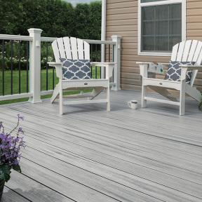 Give your space a charming, open look with Trex Enhance Naturals Deck Boards in Foggy Wharf.