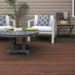 Add a touch of color to your deck with Trex Enhance in Sunset Cove.