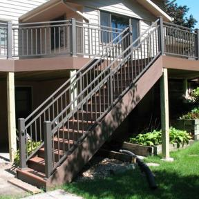 Westbury Riviera C30 Level and Stair Rail section in Bronze Fine Texture.