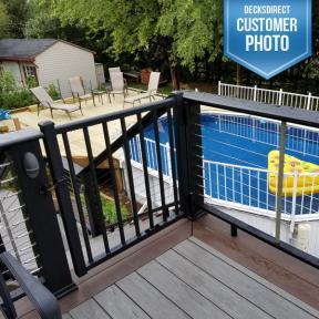 Westbury Tuscany Adjustable Gate Kit and  Aluminum Adjustable Self-Closing Gate Hinge