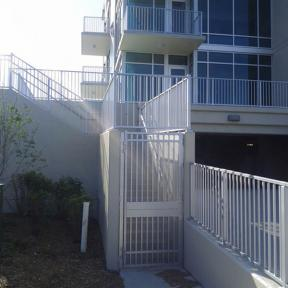 Westbury Tuscany Series Aluminum Railing Stair Section. Features Post Skirts and Post by Westbury