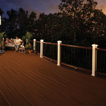 Create the night-time look you've always wanted with beautiful low voltage and solar deck lighting from DecksDirect