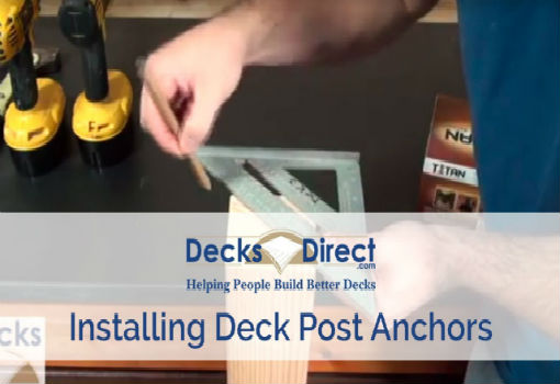 How to Install Deck Post Anchors