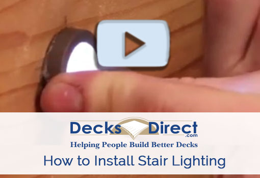 How to Install LED Deck Stair Lighting