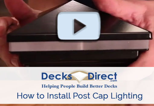 How to Install Post Cap Lights