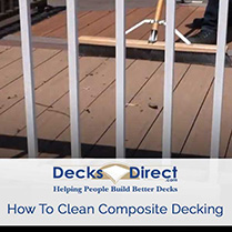 Learn how to clean your composite decking