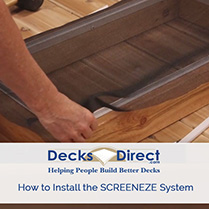 Learn how to install the SCREENeze Deck Screen System