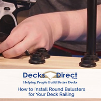 How to Install Face-Mount Deck Balusters