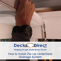 How to Install Zip-Up UnderDeck Drainage System
