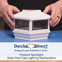 Deckorators Solar Post Cap Light