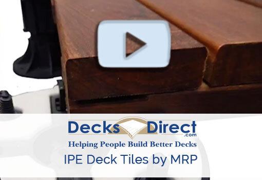IPE Deck Tiles by MRP