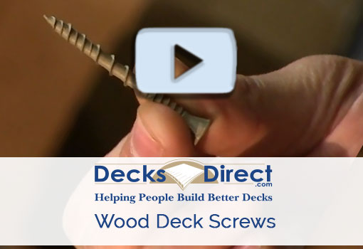 What to Know about Wood Deck Screws