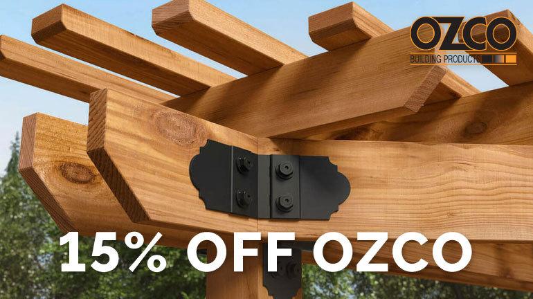 On Sale Now - 15% Off OZCO Ornamental Wood Ties.