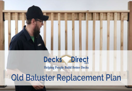 Wood Deck Baluster Replacement