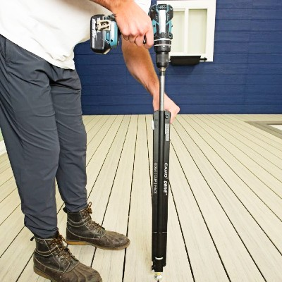 The CAMO Drive Stand-Up Tool makes installation of CAMO hidden deck fasteners quicker than ever before
