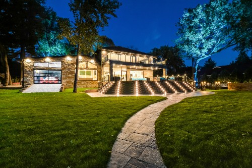 Stunning LED deck lighting creates a nighttime space the neighbors will be envious of