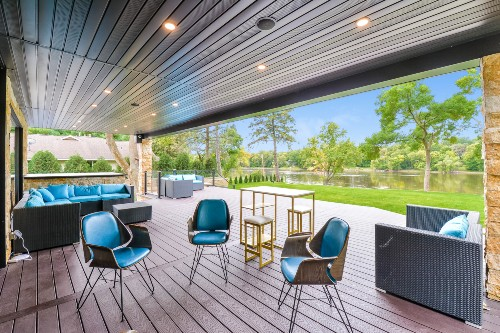 With ceiling lights and soffit lights installed, our Deck of the Month winner has created a year-round space to stay comfortable